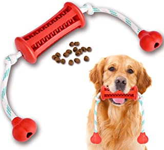 Dog Chew Toothbrush Toy Semishare 2021 Upgraded Natural Rubber Dog Brushing Stick Puppy Chew Rope Toy Cleaner Dog Toothbru...
