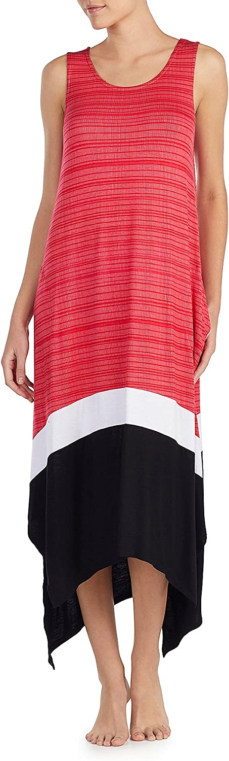 DKNY Striped colorblock Maxi Chemise