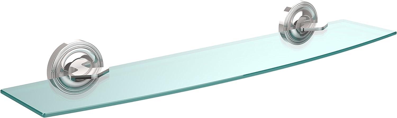 Allied Brass R-33 24-PC 24-Inch Beveled 1 4-Inch Glass Shelf, Polished Chrome