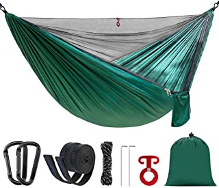 randonn/ée p/édestre Pop-up Light Double Parachute hamacs NBZH Camping hamac 2 Personnes avec moustiquaire Swing Sleeping hamac lit avec Filet Tente pour lext/érieur Backpacking