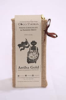 LIMITED EDITION, CocoPhoria white chocolate with passion-fruit, by Arriba Gold, 85 gr. bar.