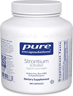Pure Encapsulations - Strontium (Citrate) - Hypoallergenic Dietary Supplement to Support Healthy Bones* - 180 Capsules