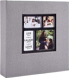 Benjia Album Photo 600 Pochettes 10x15cm Photos Grand Format Famille Mariage Classique Couverture Lin (60 Feuilles, 120 Pa...