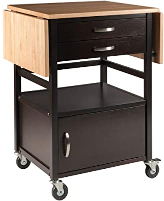 Winsome Bellini Kitchen Cart, Black