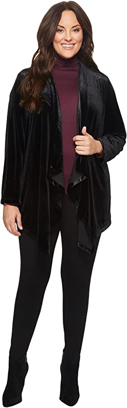 Calvin Klein Plus - Plus Size Velvet Fly Away Jacket