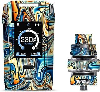 IT'S A SKIN Decal Vinyl Wrap for Smok Species 230W TFV8 Baby V2 Vape Sticker Sleeve/Blue Orange Psychadelic Oil Slick