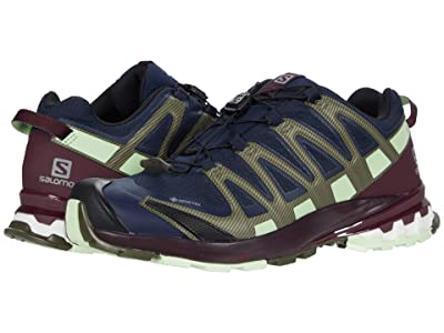 Salomon XA Pro 3D V8 GTX(r) (Navy Blazer/Winetasting/Patina Green) Women