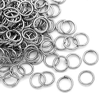 HDSupplies 1000 Pieces - 6mm Jump Rings Silver Tone - 21 Gauge