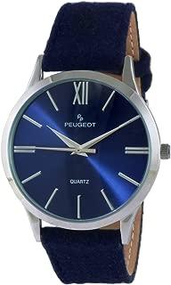 Peugeot Women Slim Case Casual Wrist Watch w/Matching Canvas Wool Strap