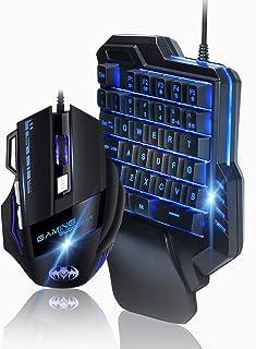 TOPOWN ゲーミング キーボード マウス セット 片手キーボード メカニカル 片手ゲーミングキーボード スイッチ キーボード マウス TOPOWN RGB ゲーミングキーボード 有線マウス 有線キーボード 最大7200DPI 日本語説明書付き