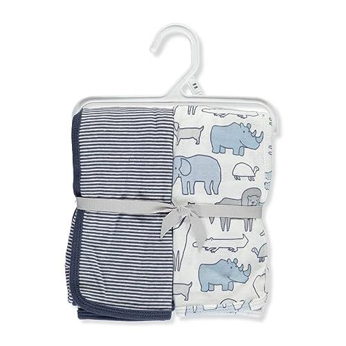 7dd083753 Carter's Baby Boys' 2-Pack Swaddle Blankets, Safari, ...