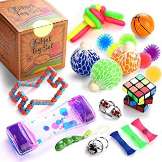 Sensory Fidget Toys Set, 25 Pcs., Stress Relief and...