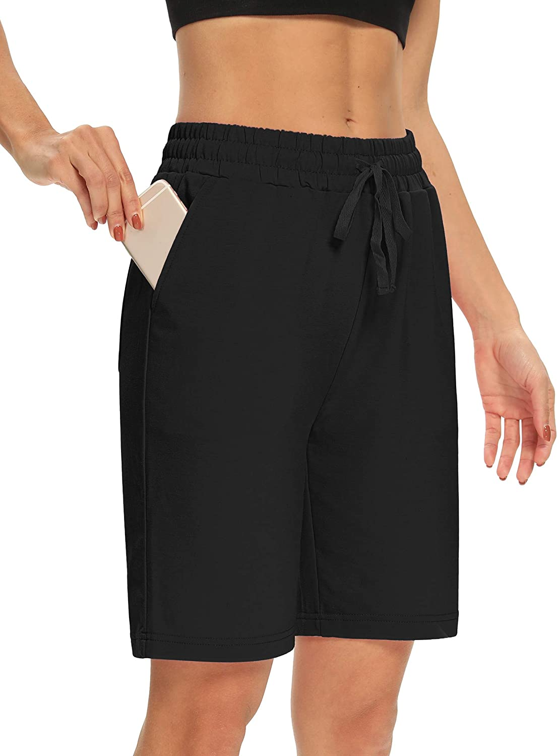 DIBAOLONG Womens Yoga Shorts Outlet ☆ Free OFFer Shipping Loose Drawstring Lounge Bermu Comfy