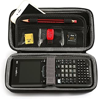 LuckyNV Portable Protective Box Case for Texas Instruments TI-Nspire CX/CAS Graphing Calculator & Mesh Pocket and Extra Room for Memory Card and Pen and Accessories
