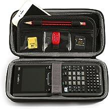 Luckynv Portable Caja de protección para Texas Instruments TI-Nspire CX/CAS Graphing Calculator & Bolsillo de malla y espacio adicional para tarjeta de memoria y la pluma y accesorios