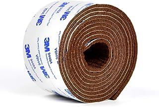 キズ防止テープ, WISH SUN フェルト 自由にカット 家具保護パッド キズ防止 騒音防止 滑り止め 椅子脚カバー フローリングの損傷防止 幅5cm 長200cm