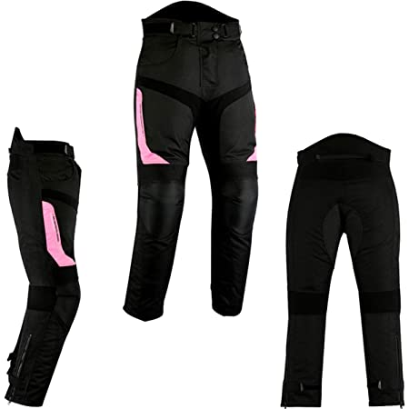 Ladies Women Motorcycle Motorbike Motocross Trouser 100/% Waterproof Wind proof Thermal Lining Protective Heavy Duty Removable CE Armour Biker Pant Trouser
