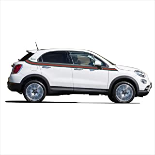 StickerBombing.eu Fiat 500 X Model 2017 Graphics kit Decals Green and Red Stripes