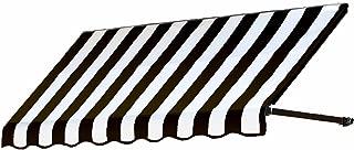 Awntech 3-Feet Dallas Retro Window/Entry Awning, 31 by 24-Inch, Black/White