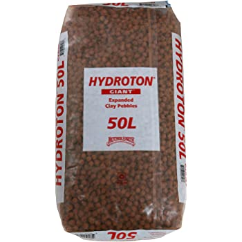 Mother Earth 714123 Hydroton Original Expanded Clay Pebbles, 50 Liter, Terra Cotta