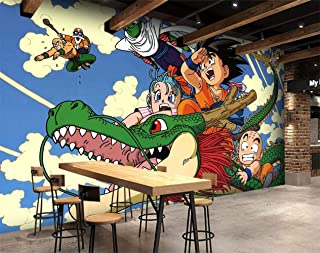 3D tela de seda Dragon Ball Japón Anime pared Papel tapiz mural pared pegatina pared murales-200X150cm(WxH)