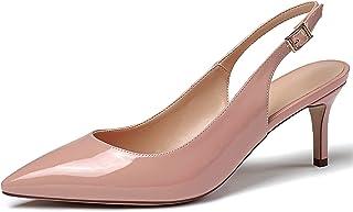 EDEFS Scarpe con Tacco Donna Gattino,Scarpe con Cinturino alla Caviglia Donna,6.5CM Slingback Sandali