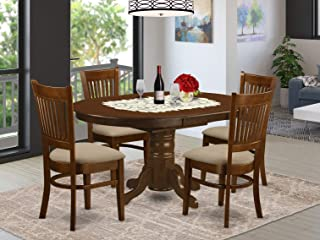 East West Furniture 5 Piece Set Kenley Kitchen Table With One 18