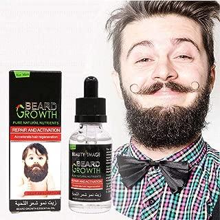 dezirZJjx 40ml Beard Growth Oil, Men Beard Growth Essential Oil, Natural Nutrients Gentle Beard Eyebrow Growth Repair Essential Oil,Beard and Mustache Hair Softener