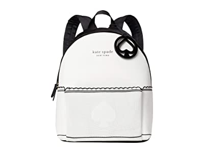 Kate Spade New York The Flyknit City Pack Large Backpack (Optic White) Backpack Bags