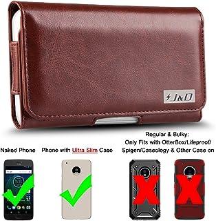 J&D Compatible para Moto G5 Plus Funda, Carcasa de Cuero PU Caso de la Bolsa con Clip de Correa, Estuche de Cuero de la Carpeta de ID para Motorola G5 Plus - Para el Teléfono Desnudo o en Caso Delgado