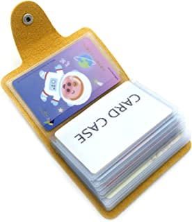 Porta Carte di Credito Pelle Donne Uomo - 24 Slot (Giallo)