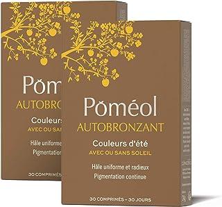 Poméol ǀ Complément alimentaire bronzage sans soleil ǀ Format éco, 2 x 30 jours ǀ Lutéine, Bêta-carotène, Lycopène, Astaxa...