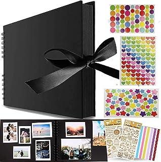 Album Photo à Coller Album Photos Scrapbooking,Albums Photos 80 Pages Noir,Album Photo Scrapbooking,Album de Bricolage Com...