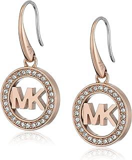 b57af24f3 Michael Kors Rose Goldtone Signature Pave Drop Earrings