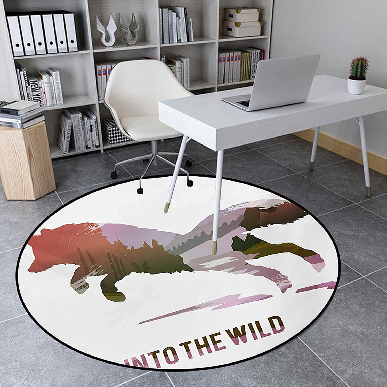 Round Area Rugs 3.3 Ft Max 65% OFF Indoor Room Jumping Living Floor for Mat 2021 autumn and winter new