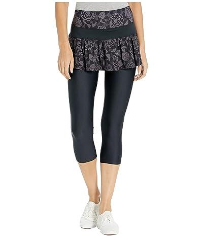 Skirt Sports Lioness Capris Skirt (Noir Fleur Print/Black) Women