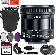 Polaroid 67mm UV Filter Ritz Gear Medium Neoprene Protective Pouch for DSLR Camera Lenses /& Lens Cap Strap Canon EF-S 10-18mm f//4.5-5.6 is STM Lens