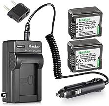 Kastar Battery 2X + Charger Replacement for Panasonic VW-VBG130 Lumix DMC-L10 HDC-HS250 HDC-HS300 HDC-HS700 HDC-SD10 HDC-S...
