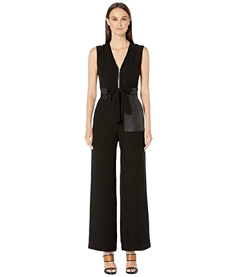 YIGAL AZROUËL Crepe Suiting Jumpsuit with Zipper Front