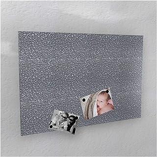 Colours-Manufaktur - Pared magnética (40 x 60 cm, 50 x 80 cm, 60 x 90 cm, 50 x 110 cm), Color Blanco Brillante, Metal, Sil...