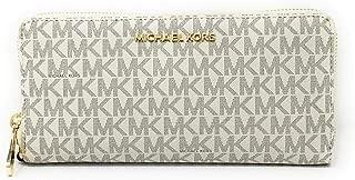 Michael Kors Jet Set Travel Continental Zip Around Leather Wallet Wristlet