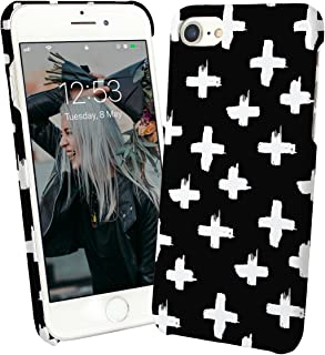 Different Cross Black White Gothic Church Cemetery Rebel Rock and Roll Punk Head Punk is Not Dead Protective Case Cover Hard Plastic iPhone XR (2018) Funny Gift Christmas for Him for Her