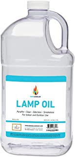 Liquid Paraffin Lamp Oil - 1 Gallon - Smokeless, Odorless, Ultra Clean Burning Fuel - Tiki Torch Fuel for Indoor and Outdo...