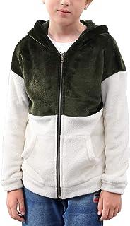 NAVINS Boys Contrast Patchwork Full Zip Sweatshirt Hoodies Casual Fleece Jacket Tops for 4-14T Kids
