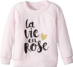Extra Soft Love Knit Rose Pullover (Toddler/Little Kids)