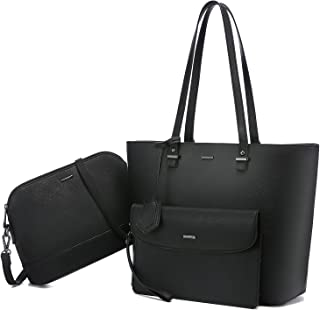 LOVEVOOK Handtasche Damen Shopper Schultertasche Umhängetasche Damen Groß Damen Tasche Gross Leder Handtaschen 3-teiliges Set