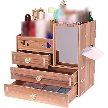 Amazon Com Jewelry Container Wood Drawer Organizer Handmade Cosmetic Storage Organizer Box Diy Wooden Storage Box Makeup Organizer J Home Kitchen