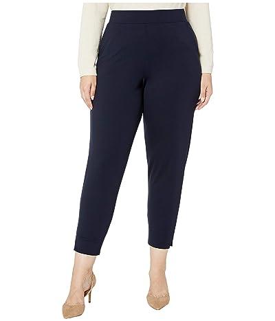 HUE Plus Size Ponte 7/8 Leggings (Navy) Women