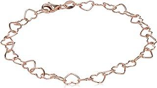 Amazon CollectionPlata de ley 5,3mm heart-link pulsera