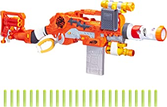 Scravenger Nerf Zombie Strike Toy Blaster with Two 12-Dart Clips, 26 Darts, Light, Barrel..